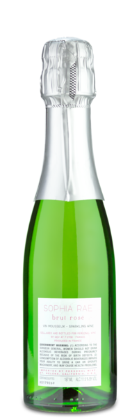 Sophia Rae Brut Rosé Minis - Winery Back Label