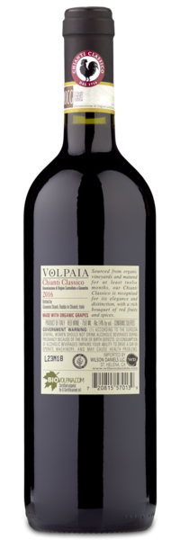 2016 Castello di Volpaia Chianti Classico - Winery Back Label