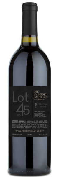 Lot 45 - Winery Back Label