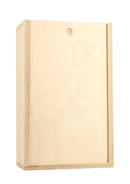 Double Bottle Wood Baltic Birch Box - Blank