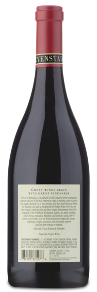 "Domaine Serene ""Evenstad Reserve"" Pinot Noir - Winery Back Label"