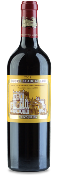 2005 Chateau Ducru-Beaucaillou & Custom Etched Wood Box