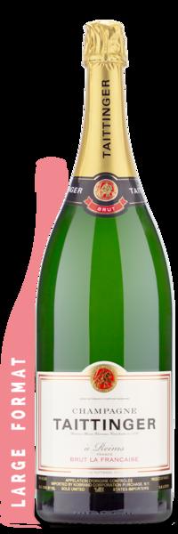 Taittinger Brut La Francaise Double Magnum | 3L - Winery Front Label