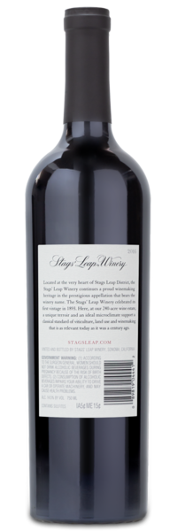 2016 Stag's Leap Napa Valley Merlot - Winery Back Label