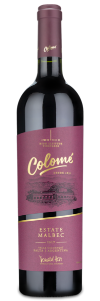 2017 Colome Estate Malbec - Winery Front Label