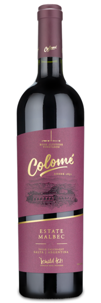 2018 Colome Estate Malbec - Winery Front Label
