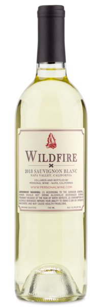 2013 Wildfire Napa Sauvignon Blanc - Winery Back Label