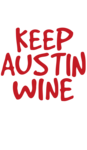 Keep Austin Wine Set Logo