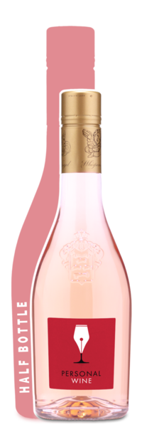 Whispering Angel Half Bottle - Labeled Example