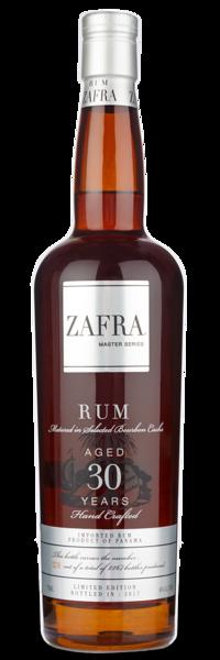 Zafra Master Series 30 Yr - Front of Bottle